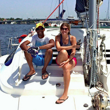 Nauti Mermaid crew: Captain Jenny & Chief Engineer - First Mate Tomas